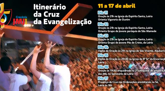 Cruz da Evangelização estará na nossa diocese de 11 a 17 de abril